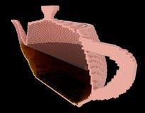在茶壶里面 免版税库存照片