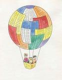 在茶气球上 免版税库存照片