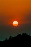 在茶的美好的cloudscape,日落射击 库存照片