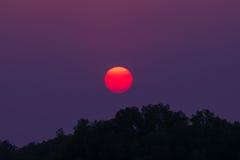 在茶的美好的cloudscape,日落射击 库存图片