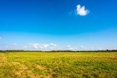 在草甸的云彩 免版税库存照片