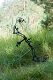 在草的复合弓 库存图片