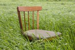在草的椅子 免版税图库摄影