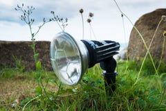在草的灯 图库摄影