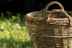 在草的篮子 免版税库存图片