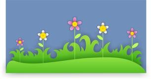 在草的花 库存照片