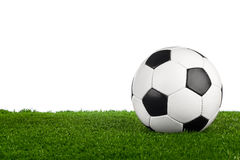 在草的足球我 免版税库存照片