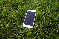 在草的IPhone 6 免版税库存图片