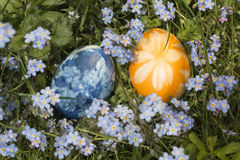 在草1的复活节彩蛋 库存照片