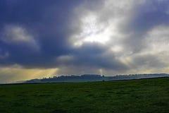 在荒地,在11月,在阿什富德附近,峰顶,德贝郡 免版税库存图片
