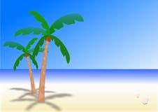 在荒岛上的晴天 免版税库存照片