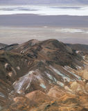 在荒芜峡谷,死亡谷国家公园,加利福尼亚上的里奇 免版税库存图片