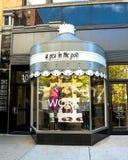在荚,纽伯里街,波士顿,麻省的一个豌豆 图库摄影