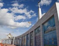 在荣耀正方形的纪念碑在俄罗斯,翼果城市 库存图片