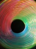 在荧光染料的螺旋 图库摄影