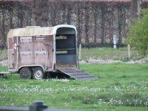 在荷兰中间的一个木支架 库存照片