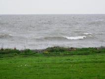 在荷兰国内的浪潮起伏的波浪看见 库存照片
