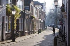 在荷兰扁圆形干酪的街道 免版税图库摄影