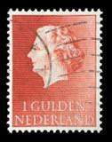 在荷兰打印的邮票显示女王朱莉安娜画象  库存照片