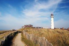 在荷兰海岸的灯塔 免版税库存图片
