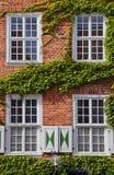 在荷兰语季度的门面,波茨坦 免版税库存照片