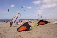 在荷兰语的多只风筝 免版税库存图片
