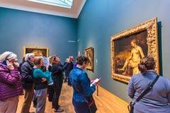 在荷兰Rijksmuseum的陈列致力晚工作o 库存照片