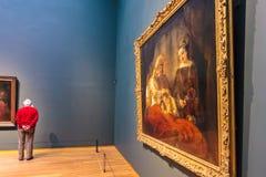 在荷兰Rijksmuseum的陈列致力晚工作o 免版税库存照片