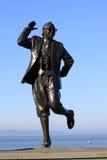 在莫克姆散步的埃里克莫克姆雕象。 图库摄影