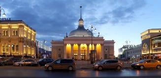 在莫斯科地铁- Komsomolskaya stationKoltsevaya线,俄罗斯的入口 免版税库存照片