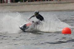 在莫斯科河的Jetski 免版税库存图片