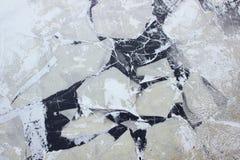在莫斯科河结冰的水 免版税库存照片