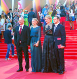 在莫斯科电影节的名人 免版税库存图片