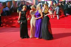 在莫斯科电影节的名人 库存照片