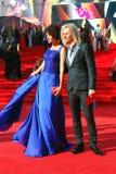 在莫斯科电影节的Anastasiya Makeeva和Gleb Matveichuk 库存图片