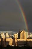 在莫斯科的彩虹 免版税库存照片