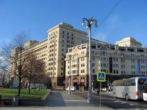 在莫斯科街道上的看法 库存照片