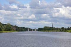 在莫斯科运河的门户 库存照片