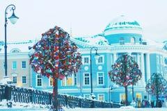 在莫斯科锁树 免版税库存照片