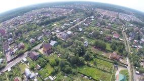 在莫斯科附近的俄国村庄 股票录像