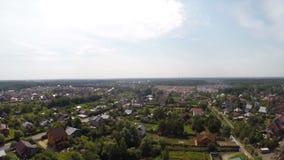 在莫斯科附近的俄国村庄 股票视频