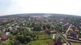 在莫斯科附近的俄国村庄 影视素材
