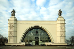 在莫斯科间隔亭子,展览会 图库摄影