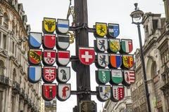 在莱斯特广场的瑞士州树 免版税库存图片