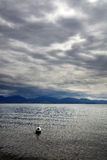 在莱芒湖,瑞士,欧洲的云彩 库存图片