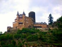 在莱茵河的城堡 库存图片