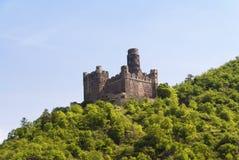 在莱茵河的Maus城堡 免版税图库摄影