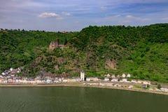 在莱茵河谷的城堡卡茨 免版税库存图片