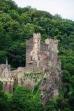在莱茵河谷的城堡 免版税图库摄影