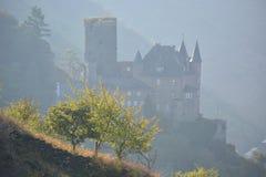 在莱茵河谷的城堡 免版税库存图片